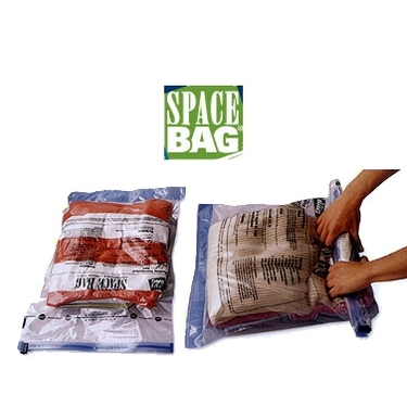 Travel Space Bags don't require a vacuum, just roll out the air.