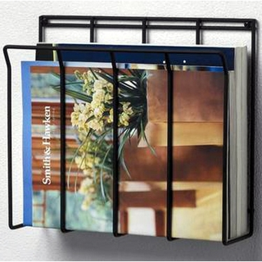 Wall Mount Newspaper/Magazine Caddy in Black