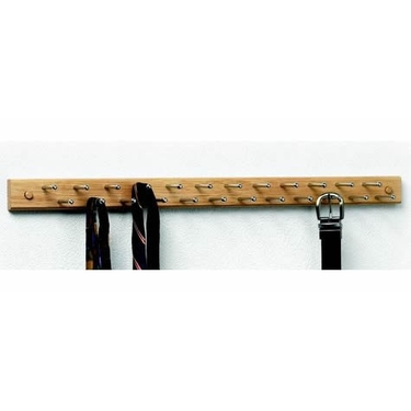 24 Peg Wood Tie and Belt Rack