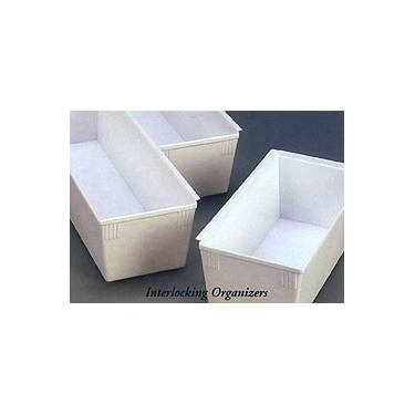 Interlocking Deep Drawer Organizer - 4'' x 4'' x 3''