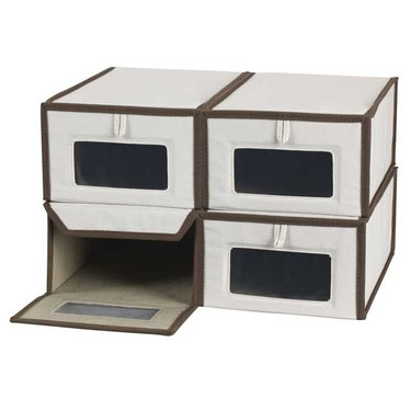 Small Canvas Vision Shoe Boxes by Household Essentials- Set of 4
