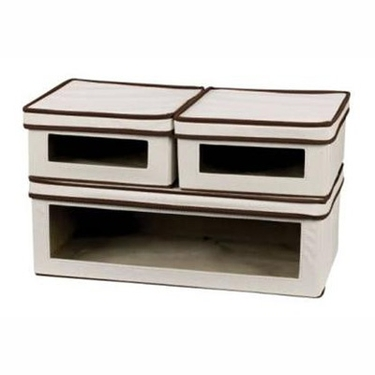 3 Piece Canvas Vision Storage Box Collection by Household Essentials