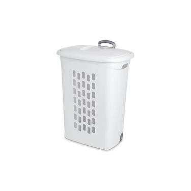 Sterilite Ultra Wheeled Hamper with Retractable Handle by Sterilite