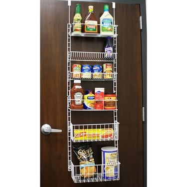 Over the Door Storage Rack w/Adjustable Shelves