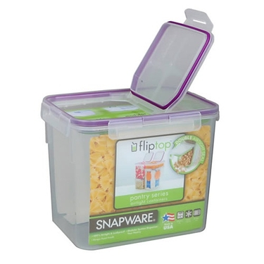 Wide Modular Airtight Flip-Top Dry Food Storage by Snapware - 8x6x6