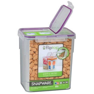 Wide Modular Airtight Flip-Top Flour Canister by Snapware