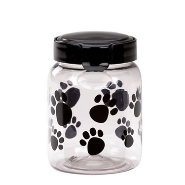 32oz Black Paw Print Pet Treat Canister by Snapware