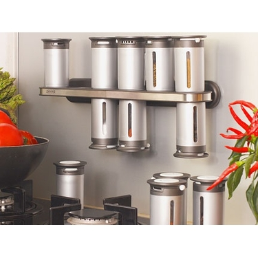 Zero Gravity Magnetic Spice Rack by Zevro - 12 Canister Wall Mount Unit