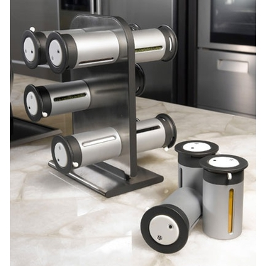 Zero Gravity Magnetic Spice Stand by Zevro - 12 Canister Unit