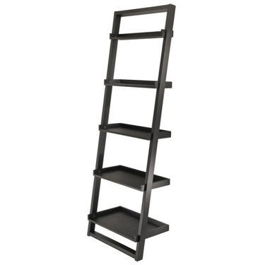 Bailey Leaning 5-Tier Shelf by Winsome Wood