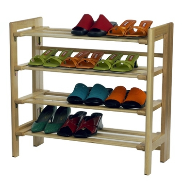 4-Tier Solid Wooden Shoe Rack by Winsome Wood
