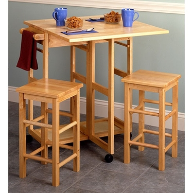 Drop Leaf Breakfast Table With Stools by Winsome Wood