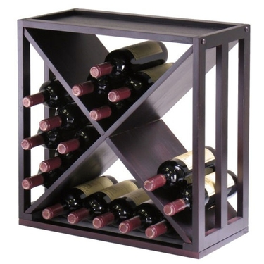 How To Make A Wooden X Wine Rack
