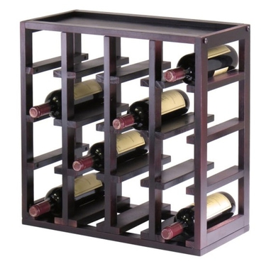 Kingston Stackable Slot Cube Wine Rack by Winsome Wood