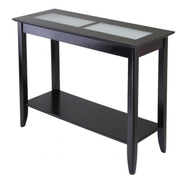 Syrah Console or Hall Table with Frosted Glass - Espresso