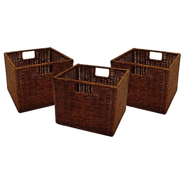 Leo Small Wicker Baskets by Winsome Wood - Set of 3