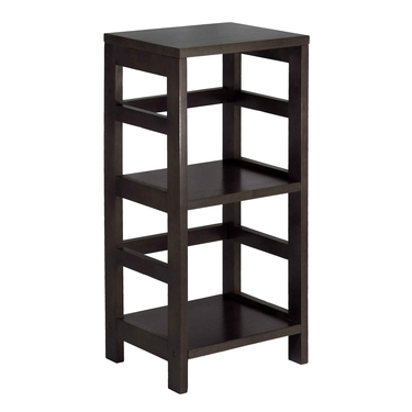 Leo Small Shelf Unit by Winsome Wood - Espresso Finish