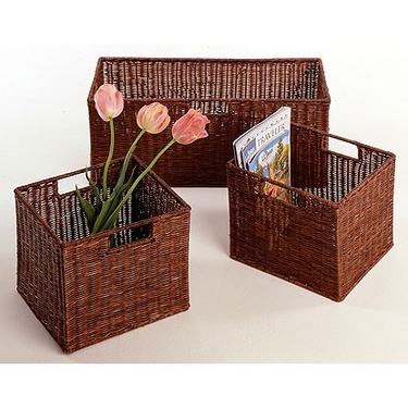 Leo Wicker 3 Basket Set by Winsome Wood