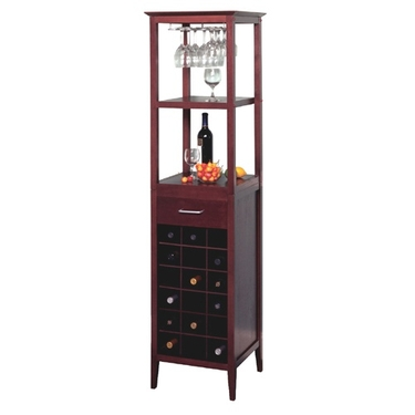 Wine Rack With Storage by Winsome Wood