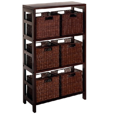 Leo 7-PC Storage Shelf - 1 Shelf Unit with 6 Small Baskets