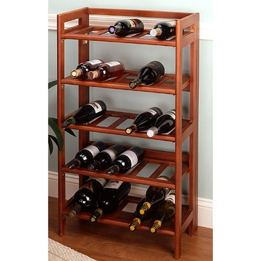 Folding Wine Rack by Winsome Wood