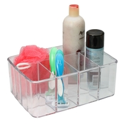 Clear acrylic vanity organizer