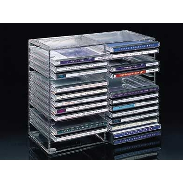 Stacking 30 CD Rack