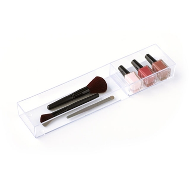 Cosmetic Stax Bottles & Brushes Organizer - Clear