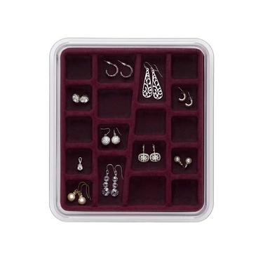 18 Compartment Burgundy Jewelry Stax by Neatnix