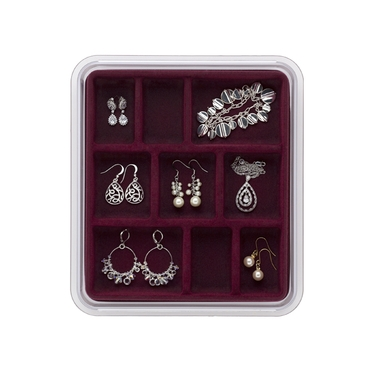 9 Compartment Burgundy Jewelry Stax by Neatnix