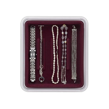 Bracelets & Watches- Burgundy Jewerly Organizer