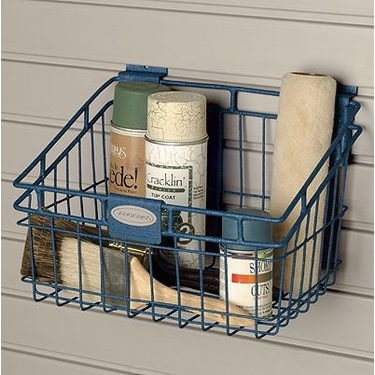 Suncast Storage Trends Slatwall Metal Basket: 12''x8''- Set of 6