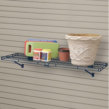 Suncast Storage Trends Slatwall Metal Shelf: 14''x48''- Set of 6