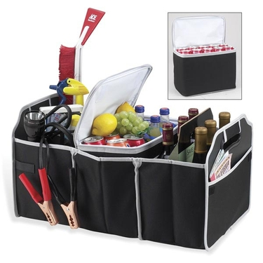 Picnic At Ascot Collapsible Trunk Organizer and Cooler: Black