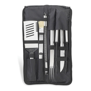 9 Piece Stainless Steel BBQ Tool Set