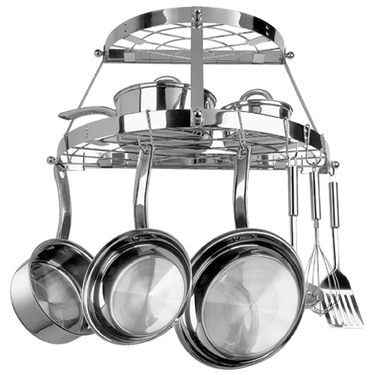 Double Shelf Wall Mount Pot Rack by Range Kleen in Stainless