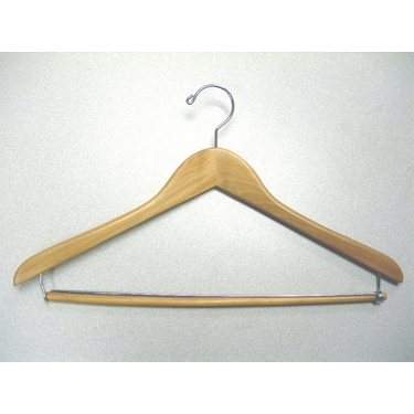 Gemini Suit Hangers With Locking Bar in Natural - Set of 50