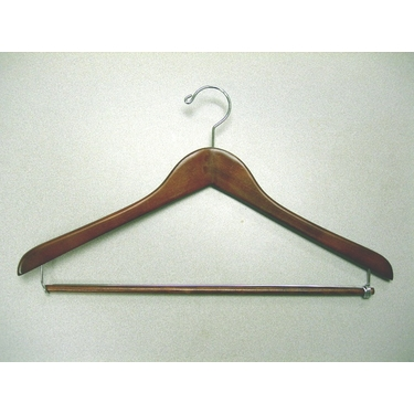 Gemini Suit Hangers With Locking Bar in Light Walnut