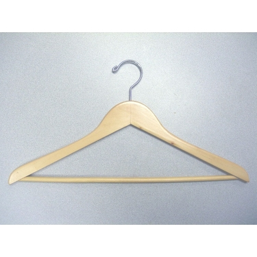 Genesis Suit Hanger With Bar in Natural - Set of 50