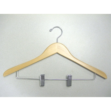 Genesis  Suit Clip Hanger in Natural - Set of 50