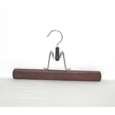 Deluxe Wood Trouser Clamps - Mahogany - Set of 30