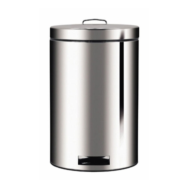 Brabantia 20L Pedal Bin w/ Bio Bucket, Brilliant Steel