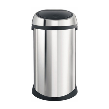 Brabantia Touch Bin, 50 L/13 Gallon, Brilliant Steel