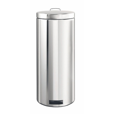 Brabantia 30L Pedal Bin, Brilliant Steel