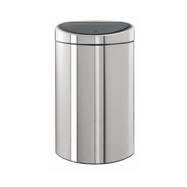 Brabantia Touch Bin, 40L / 10.6 Gallons, Brilliant Steel