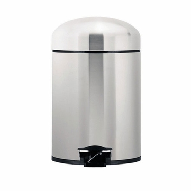 Brabantia 5L Retro Bin, Matte Steel