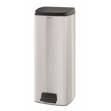 Brabantia 25L Rectangular Pedal Bin, Fingerprint Proof Matte Steel