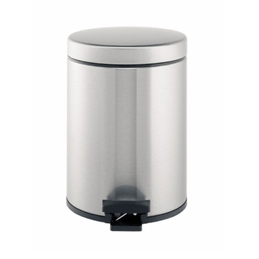 Brabantia 5L Pedal Bin, Fingerprint Proof Matte Steel