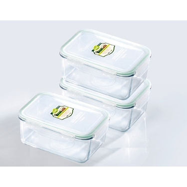 Go Green GlasLock  64 oz. Rectangle Food Storage Set by Kinetic
