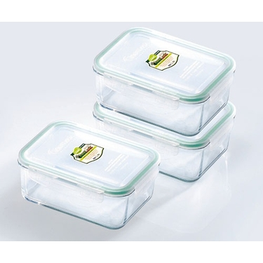 Go Green GlassLock  37 oz. Rectangle Food Storage Set by Kinetic